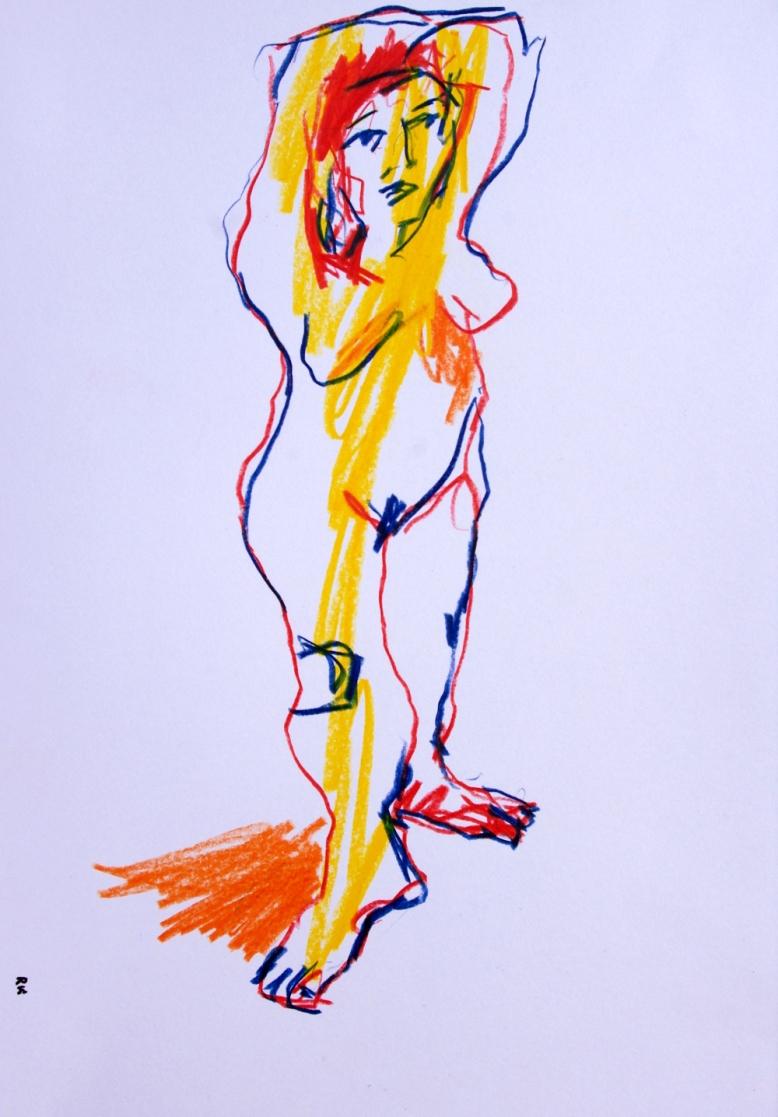 warm glow.coloured pencil. 29.5 x 41 cm