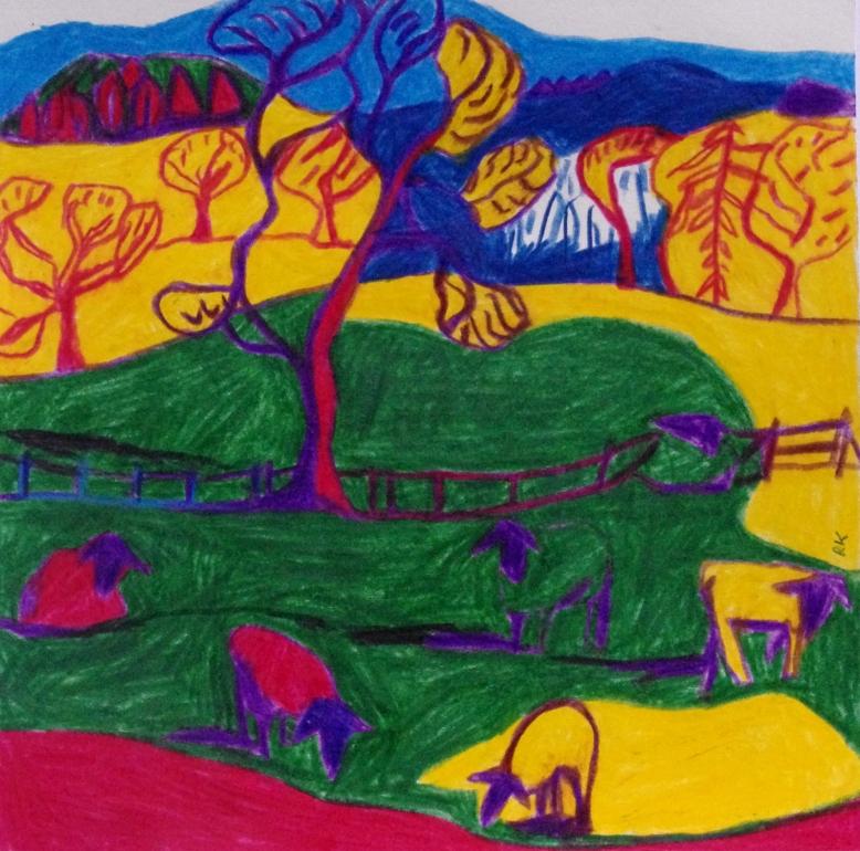 A colourful adventure. 30x 25 cm